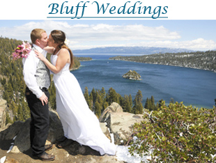 Wedding on the bluff of Emerald Bay