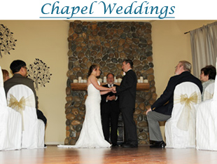Wedding in the indoor chapel of Forest Suites Resort