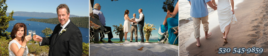 Various weddings scenes in Lake Tahoe