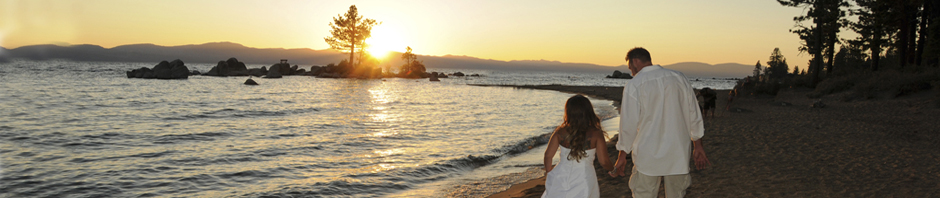Serene Lake Tahoe Beach scene