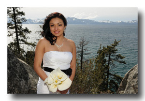 Bride posing on the Vista Point overlook