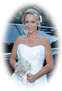 Bride prior to her Emerald Bay wedding in Tahoe