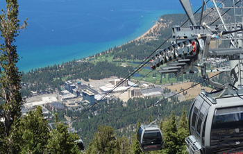 Aerial view of downtown Lake Tahoe