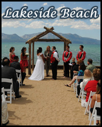 Lakeside Beach wedding venue in South Lake Tahoe