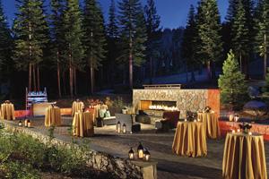 The Fireside Terrace at the grand Ritz-Carlton