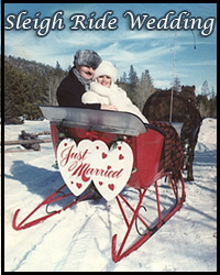 Sleigh ride winter weddings in Tahoe