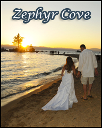 Zephyr Cove Beach ceremony venue