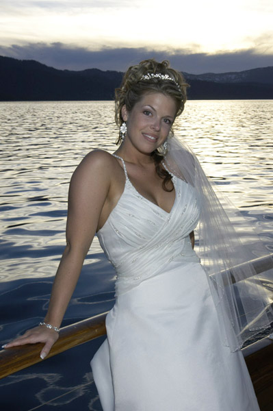 Sunset boat wedding