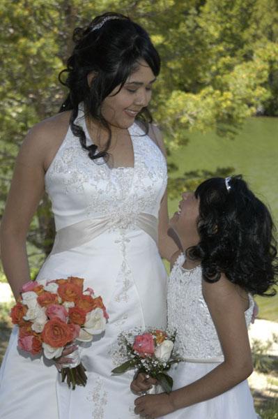 Mom displays an adoring look to her daughter