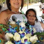 Bride and her daughter aboard the carriage