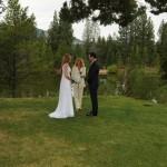 Ceremony at Tahoe Paradise Park next to Lake Baron
