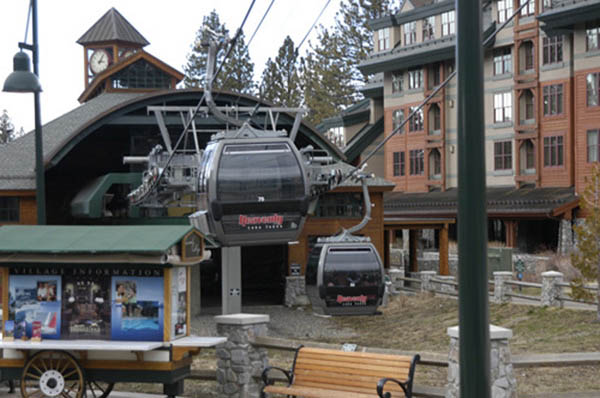 The dispatch area at the gondola base