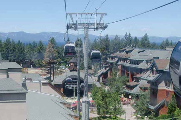 Departing upward from the gondola base area