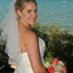 Nice smile from the bride