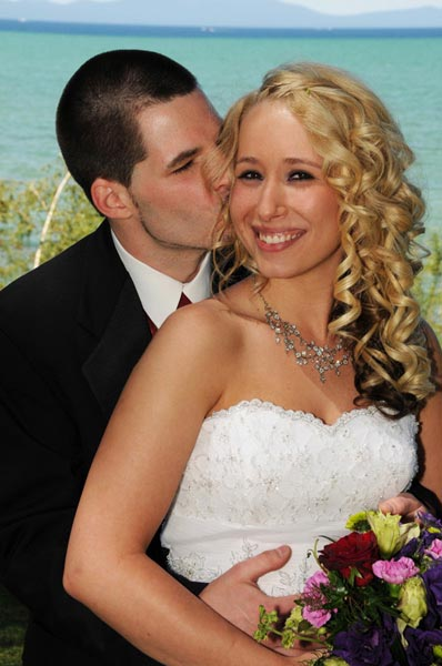 Soft-Kiss-on-Cheek | Lake Tahoe Weddings