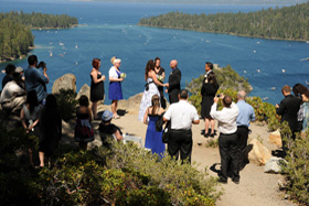 Emerald Bay is an outdoor wedding location in Lake Tahoe