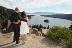 Scenic view of Emerald Bay