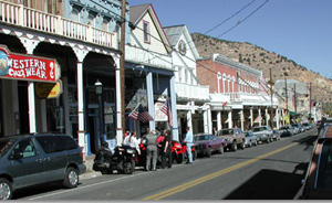 The historic ghost town of Virginia City