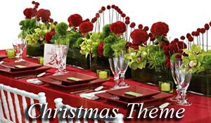 A Christmas season theme wedding