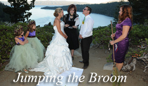 Jumping the Broom themed ceremony