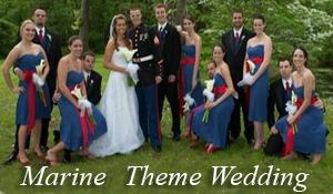 Marine wedding theme