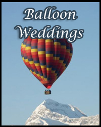 Balloon weddings over Lake Tahoe
