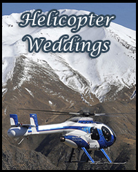 Helicopter weddings in Tahoe