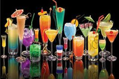 An array of servable cocktails