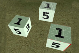 The dice represent an odd formation of numbers that infrequently appear on the calendar