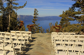 The ceremony deck on the overlook