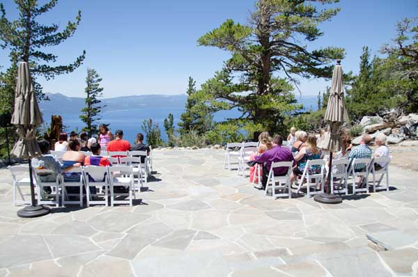 Scene of the seated guests on the Blue Sky Terrace
