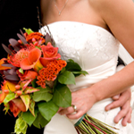 Colorful photo of wedding flowers