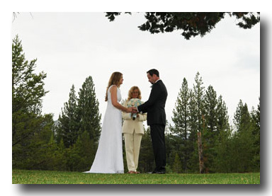 Bride And Groom Pray After Exchanging Their Wedding Vows