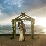 Scenic sunset view at a Lakeside Beach wedding