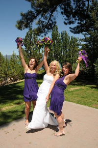 Bride with her two bridesmaids
