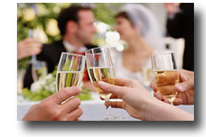 Toasting celebration for the newly married