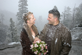 Ceremony at Emerald Bay in Winter
