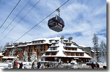 Aerial view of Heavenly's gondola