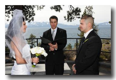 An actual ceremony at Logan Shoals Vista Point