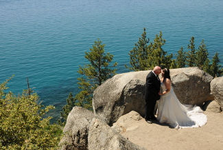 Married couple after ceremony at Logan Shoals Vista Point