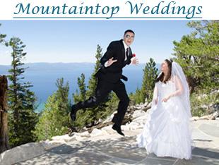 Wedding on the mountaintop of Heavenly Mountain Resort