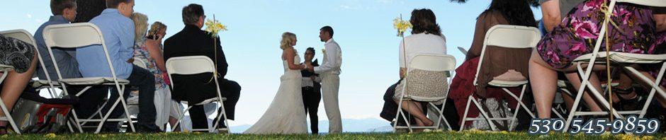 A ceremony in progress at Regan Beach