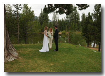 Wedding location at Tahoe Paradise Park