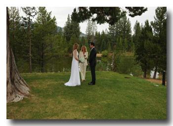 Wedding location at Tahoe Paradise Park