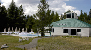 The park's recreation hall available for receptions