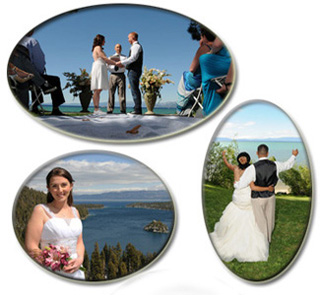 Various wedding locations around South Lake Tahoe