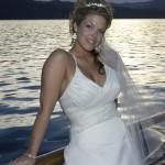 Sunset boat wedding