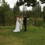 Ceremony at Tahoe Paradise Park next to Lake Baron