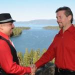 Best man shakes the groom's hand