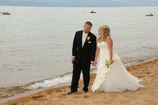 Nevada Beach Walk Lake Tahoe Weddings